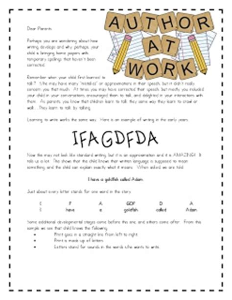 Parent Letter Writing Workshop 13 best images about kindergarten on great expectations common and proper nouns and