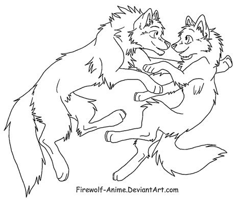 wolf love coloring pages wolf float lineart by firewolf anime on deviantart