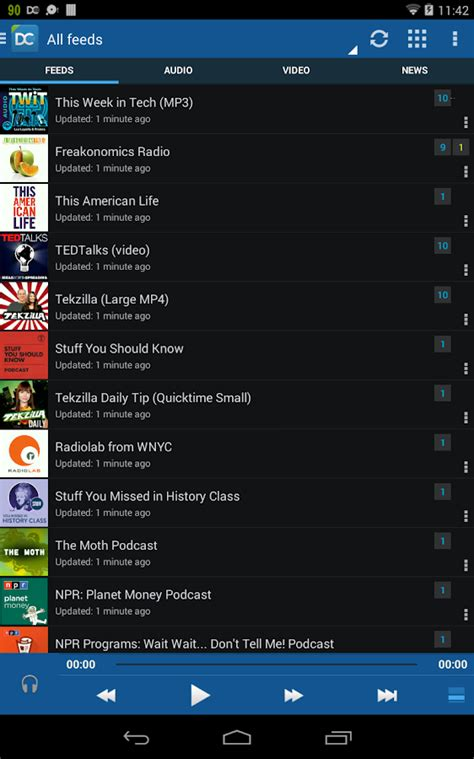 podcasts player for android doggcatcher podcast player screenshot