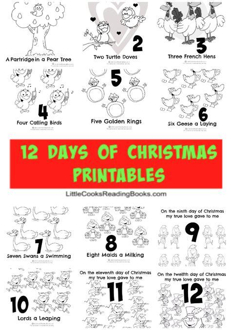 printable lyrics for 12 days of christmas on the 12th day of christmas lyrics christmas cards