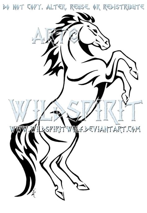 tribal horse tattoo designs 1000 images about draw it on clip flower