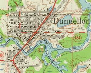 map of dunnellon 1954 florida