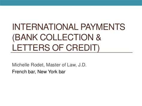Letter Of Credit Collecting Bank Documentary Collection Letters Of Credit