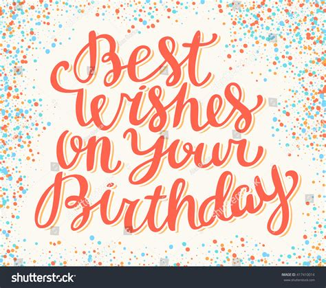 best wish best wishes on your birthday happy stock vector 417410014