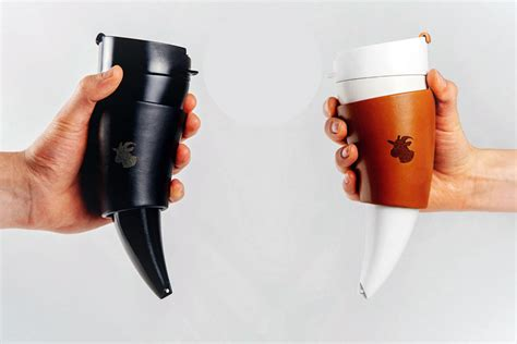designboom kiss lid drink every last drop of coffee with the goat mug