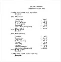 Template For A by Sle Financial Report Template 9 Free Documents To