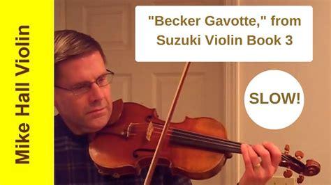 Gavotte Violin Suzuki Book 3 Becker Gavotte 5 From Suzuki Violin Book 3 A Play