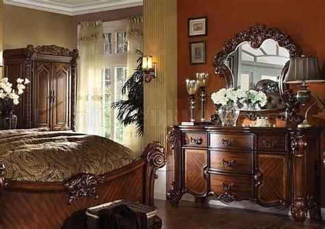 vendome bedroom set vendome bedroom cherry by acme