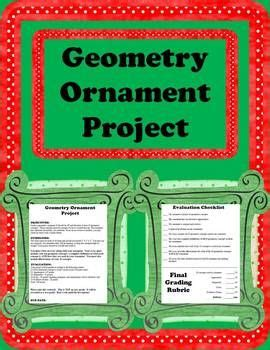christmas ornament math project geometry ornament and ornaments on