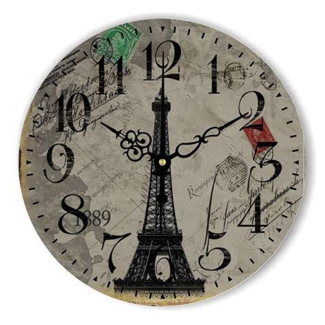 Best Wall Clocks For Living Room Europe Style Eiffel Tower Home Decoration Big Size Mute