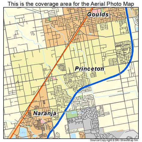 princeton map aerial photography map of princeton fl florida