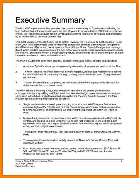executive summary resume exle 6 executive summary sle students resume
