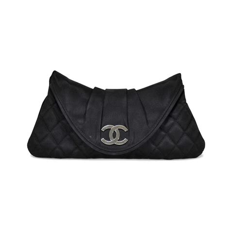 Clutch Chanel 115 second chanel quilted satin moon clutch the fifth collection