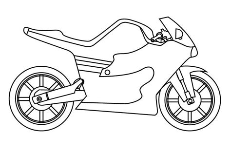simple motorcycle coloring pages printable motorcycle coloring pages for preschoolers