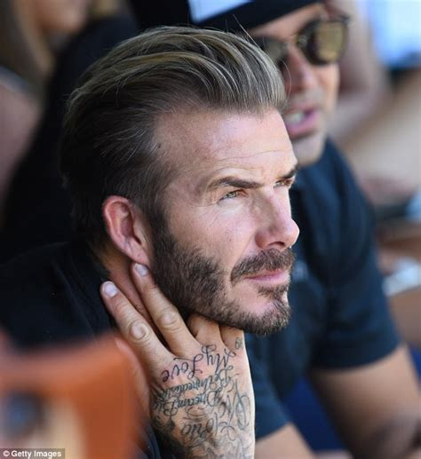 david beckham hand tattoo david beckham shows new captioned the end in