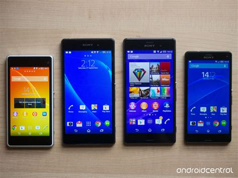 Hp Sony Xperia Z1 Z2 Z3 in pictures sony xperia z3 z3 compact versus z2 z1 compact android central