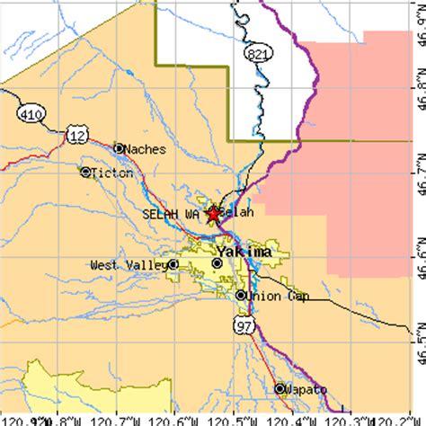 zip code map yakima wa selah washington wa population data races housing