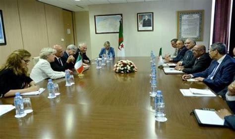 messahel riceve ad algeri il ministro italiano dell