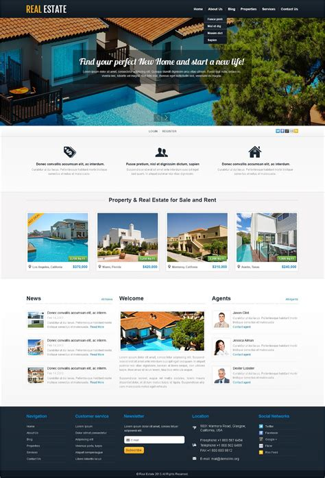 50 best real estate themes templates design
