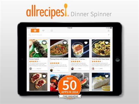 dinner app app shopper allrecipes dinner spinner food drink