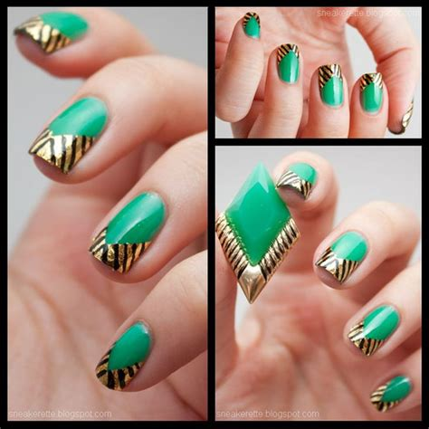 easy nail art with green and black 100 awesome green nail art designs