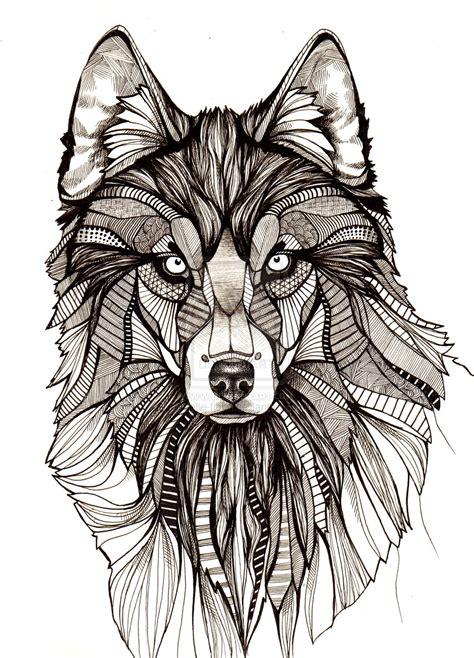 pattern drawing wolf wolf by aofie fionn on deviantart
