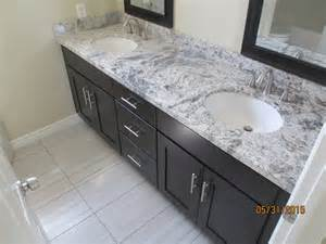 after shaker espresso cabinet with romanix granite and