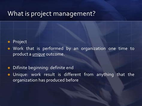 What Is Operation Management In Mba by Project Management Presentation Mba Course