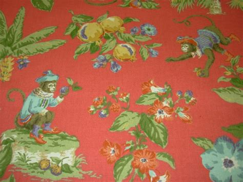 monkey upholstery fabric by the yard p kaufmann quot cheeky monkey quot guava cotton