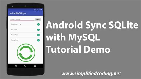 tutorial android php mysql android sync sqlite with mysql tutorial demo youtube