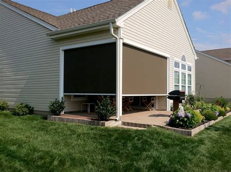Deck Awnings With Screens by Retractable Shade Awnings Landscaping Network