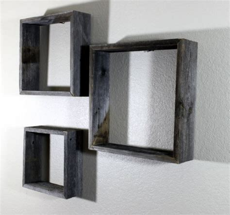 Decorative Floating Wall Shelves Top 15 Floating Wooden Square Wall Shelves To Buy