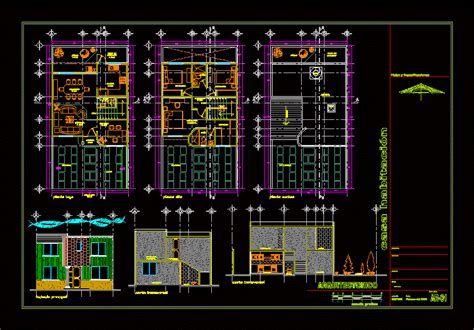 story house  garden  dwg plan  autocad