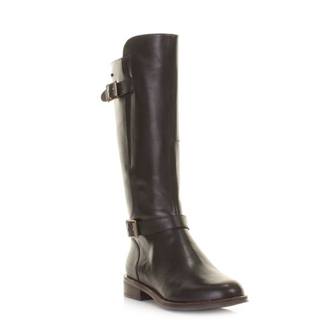 womens clarks mara vale black leather gtx knee high
