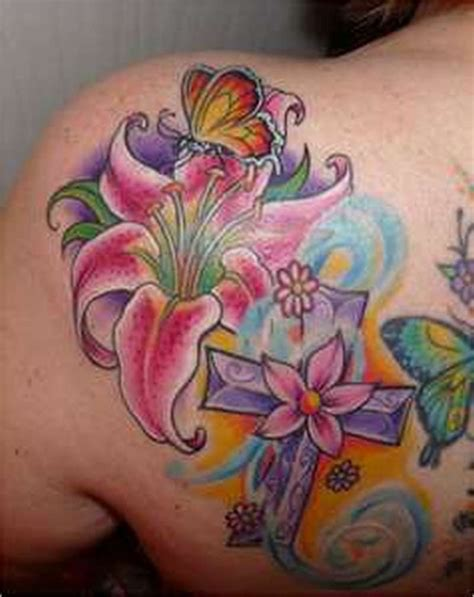 Flower Tattoos Designs 2 Lily Flower N Butterfly Tattoo Design 2 Tattoos Book