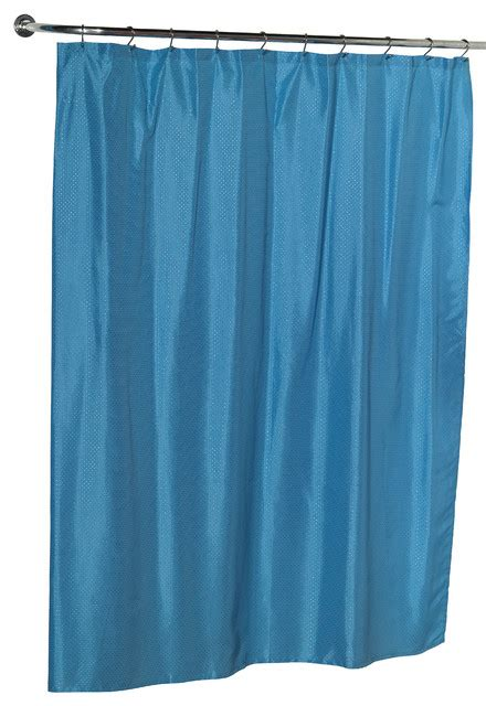 light blue fabric shower curtain carnation home fashions quot lauren quot dobby fabric shower
