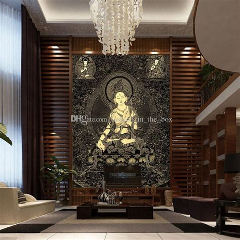 buddha wallpaper for bedroom 3d buddha wallpaper buddha statue of thangka wall mural