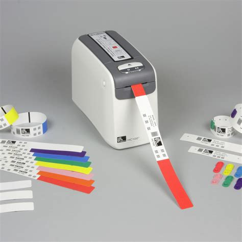 Printer Zebra Hc100 zebra hc100 wristband printer essentra security id