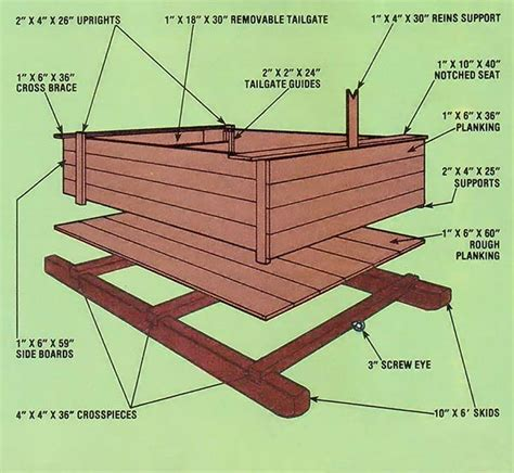 horse drawn sleigh woodworking plans