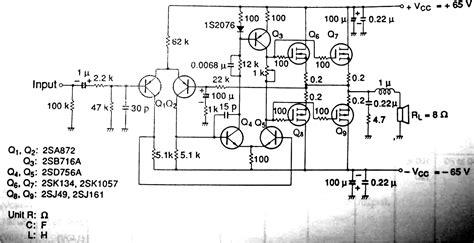 mosfet transistor lifier wiring schematic diagram 100 watt mosfet lifier circuit