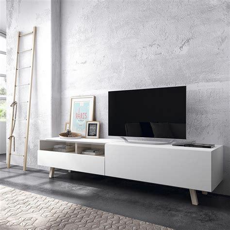 muebles de haya time mueble tv blanco y patas en madera de haya kenay home
