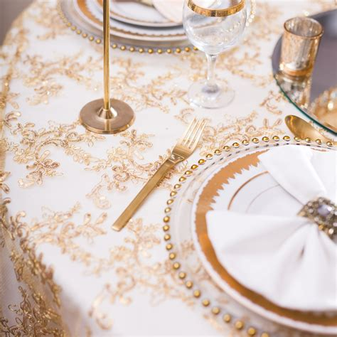 gold table overlay bright gold designer table overlay beyond expectations