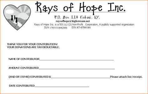 printable tax receipts for donations tax deductible donation receipt template church donation