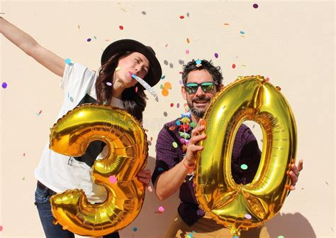 golden couple have big hearts cheerful couple celebrates a thirty years birthday with