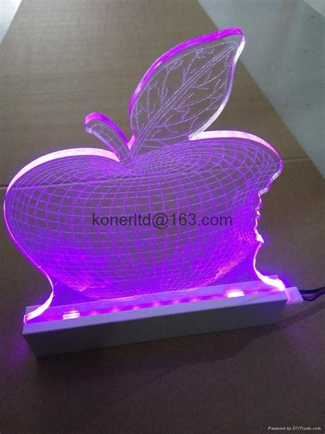laser engraved with lighted led base custom rgb led lighted laser engraving acrylic edge lit