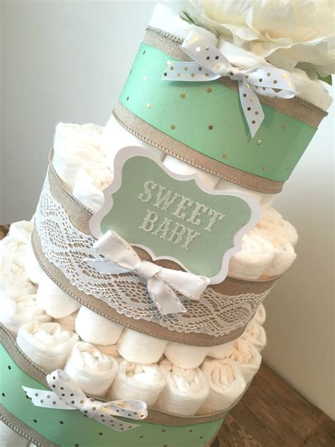 Green Baby Shower Cake by Mint Green Cake Cake Centerpiece For