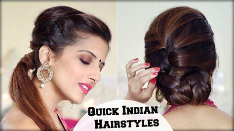 indian hairstyles for diwali 2 elegant indian hairstyles with a puff for diwali for