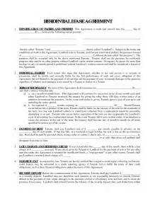 printable residential free house lease agreement residential lease agreement real estate
