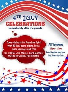 free celebration of templates 4th july independence day celebrations flyer