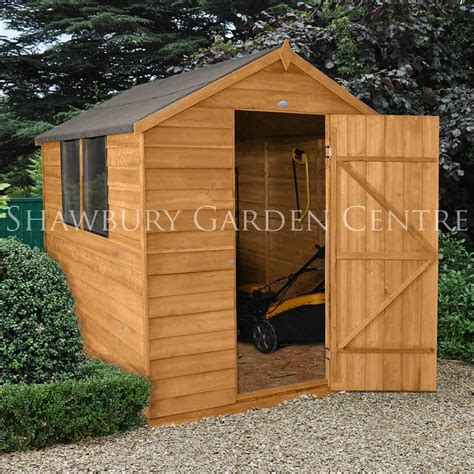 Assembled Garden Sheds by Forest Garden 6 X 8 Overlap Apex Shed Assembled